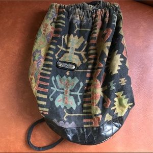 Vintage Drawstring Backpack